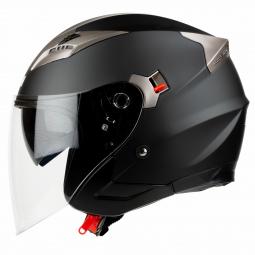Moto přilba HORN Blenda Chopper černá + sluneční clona