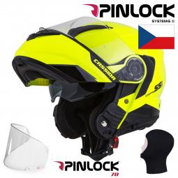 + PINLOCK Moto přilba CASSIDA Compress 2.0 Refraction žlutá-černá