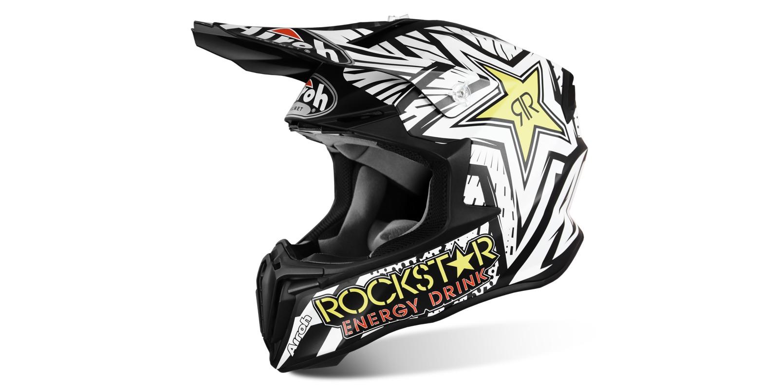 přilba TWIST Rockstar, AIROH (bílá/černá)