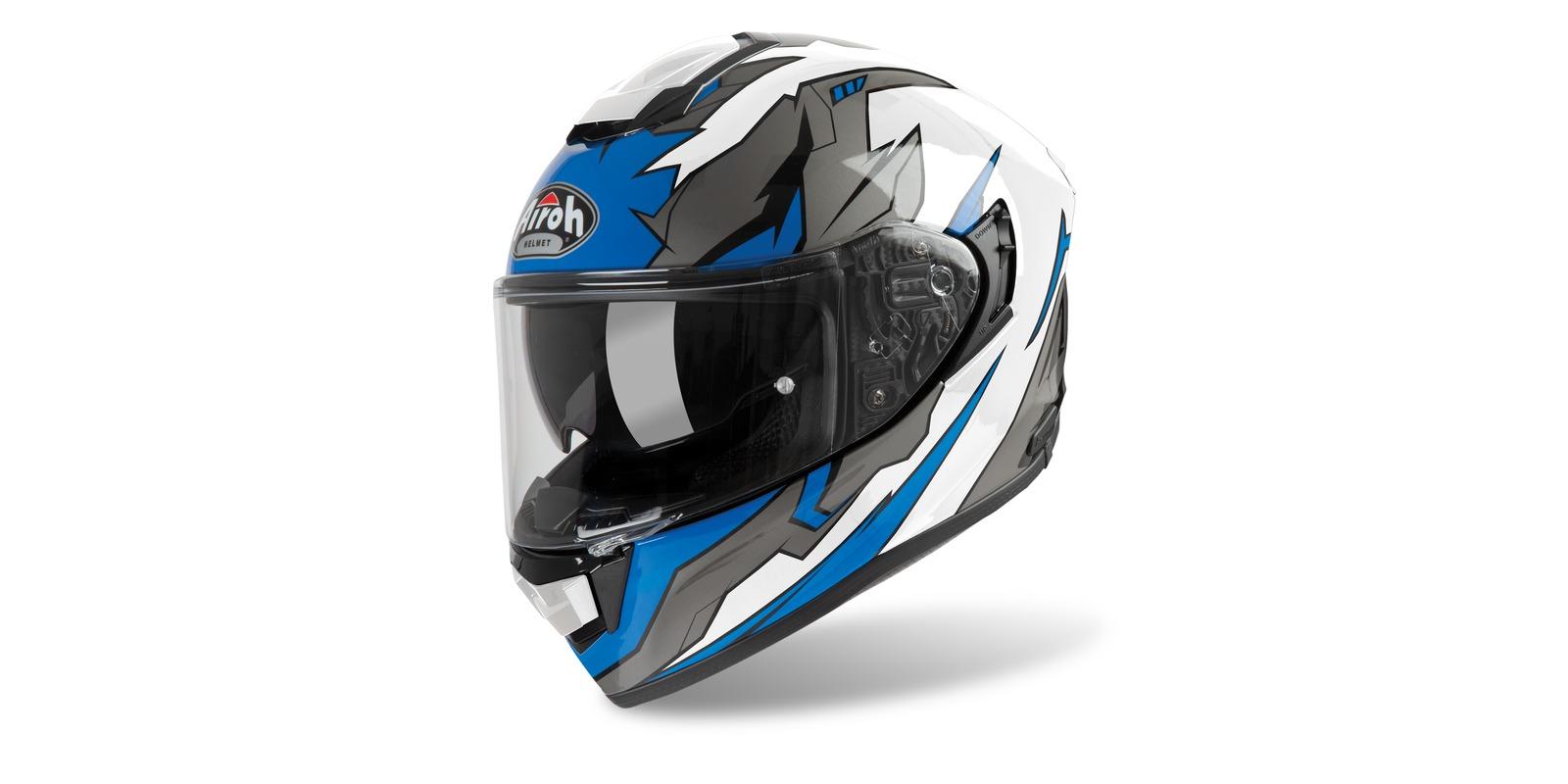 přilba ST 501 BIONIC, AIROH (bílá/modrá)