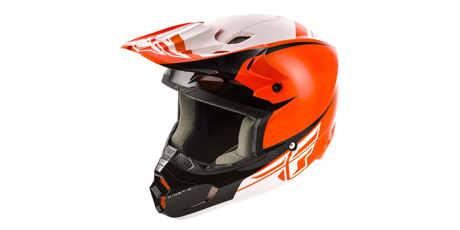 přilba Kinetic SHARP, FLY RACING, (oranžová/černá)