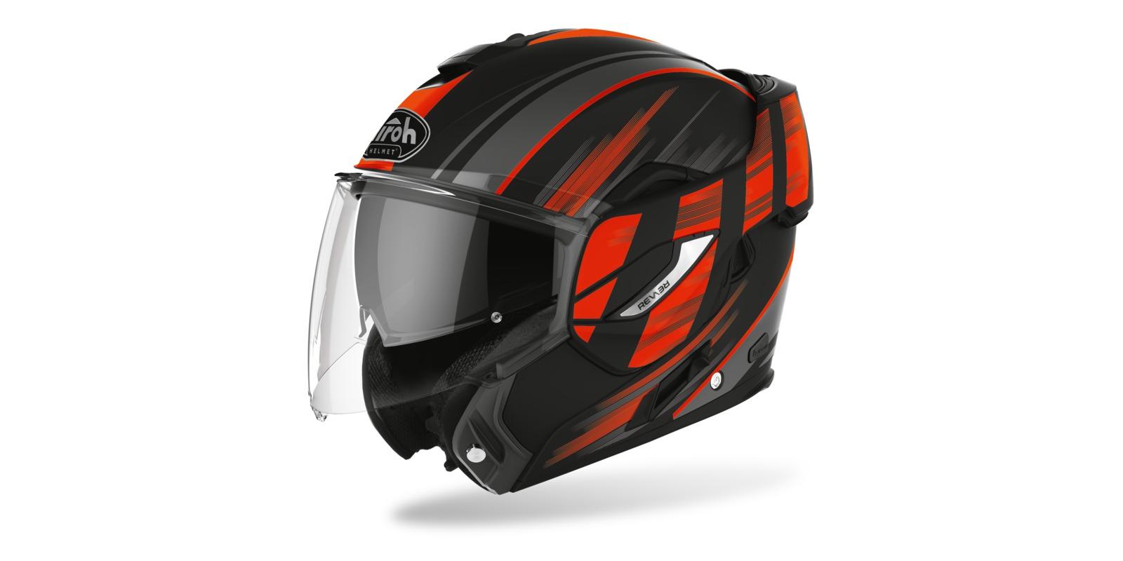 přilba REV19 IKON, AIROH (černá/oranžová matná)
