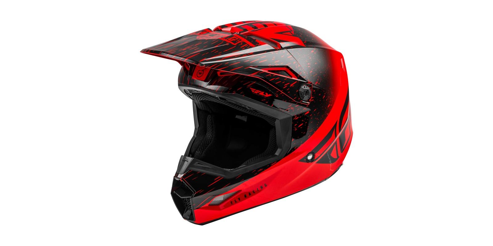 přilba KINETIC K120, FLY RACING - USA (červená/černá)
