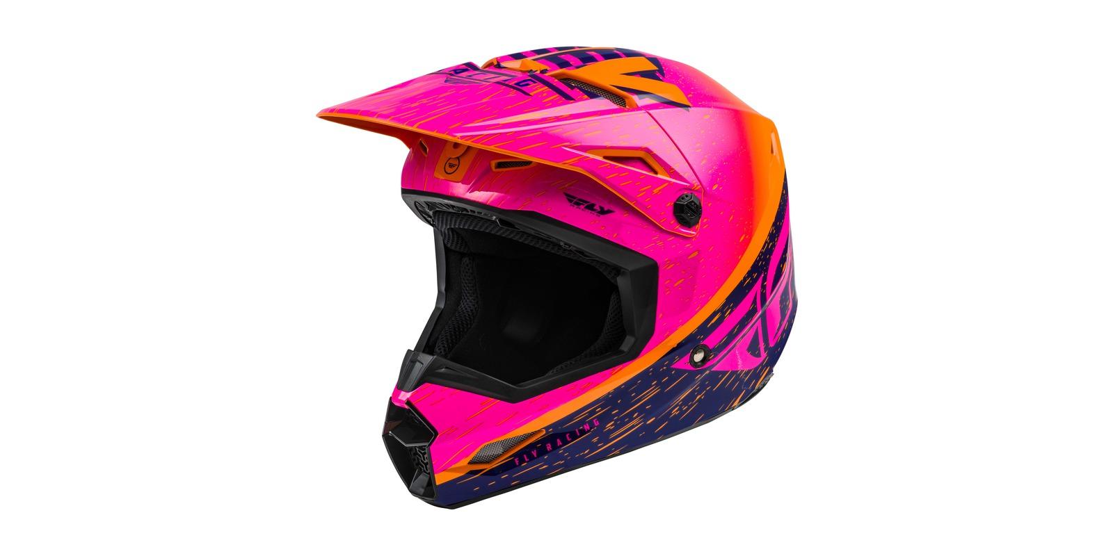 přilba KINETIC K120, FLY RACING - USA (oranžová/růžová/černá)