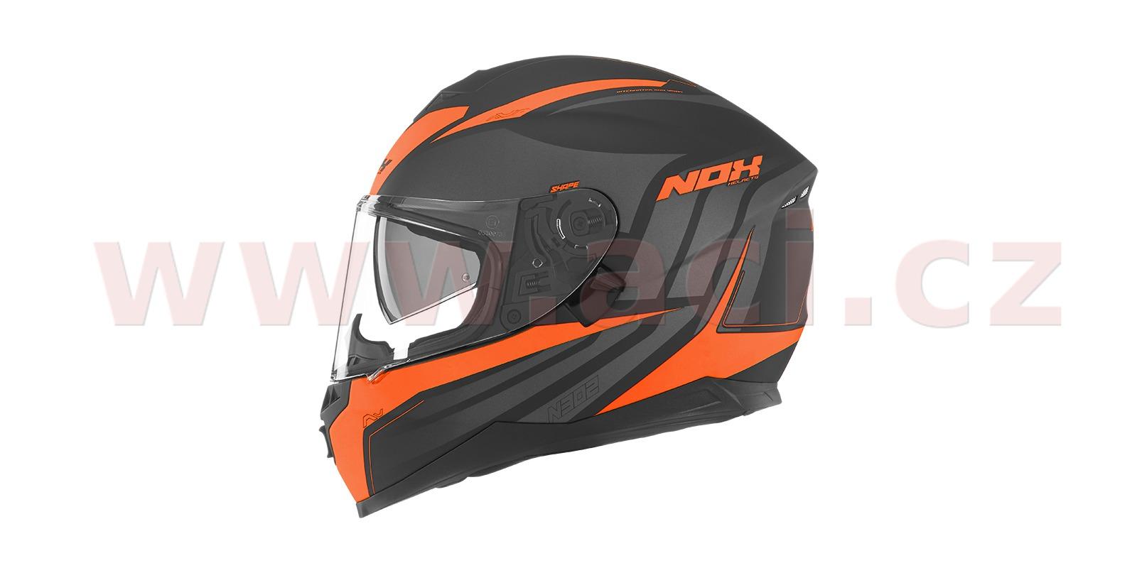 přilba N302 Shape, NOX (černá/oranžová)