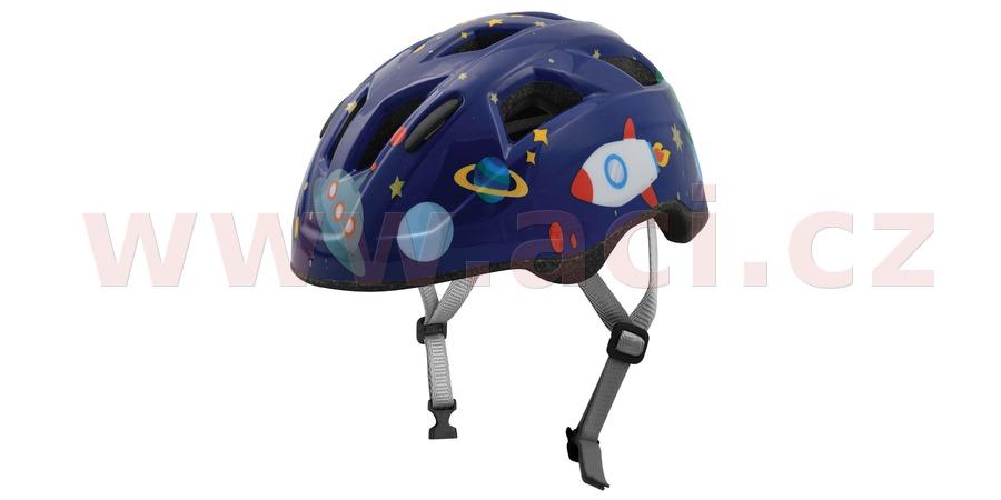 cyklo přilba SPACE JUNIOR, OXFORD, dětská (modrá)