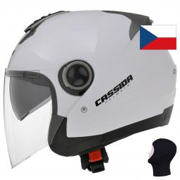 Kukla a helma Přilba CASSIDA Magnum - bílá