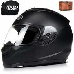 Moto přilba AWINA integrální černá matná