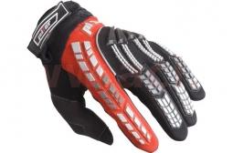 Dětské motocyklové rukavice PIONEER červeno-černé