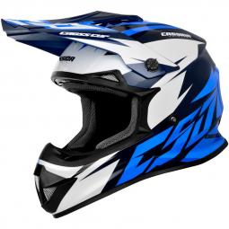 Moto přilba CASSIDA Cross Cup Two modrá-bílá