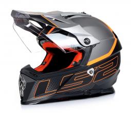 Přilba LS2 MX436 šedo-černá