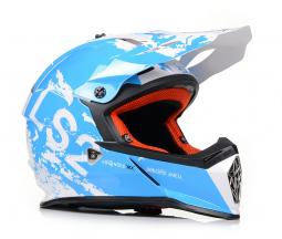 Přilba LS2 MX437 modro-bílá
