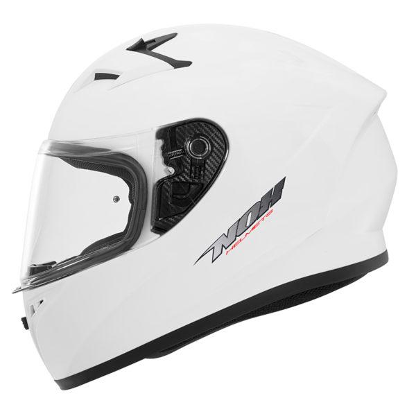 Dětská moto přilba NOX N961K bílá