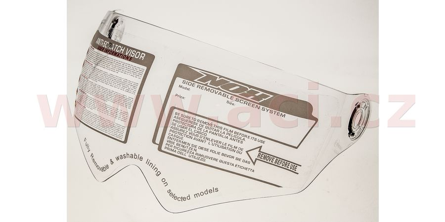 plexi pro přilby N605/N606, NOX (čiré)