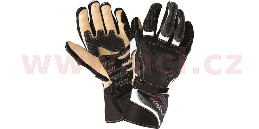 rukavice Sachsenring, ROLEFF, pánské (černé/šedé)