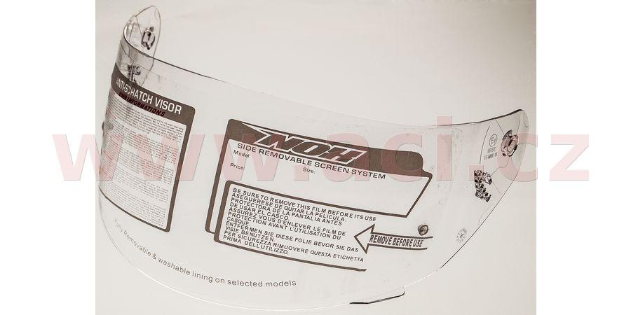 plexi pro přilby N940/N912/N949 s přípravou pinlock, NOX (čiré)