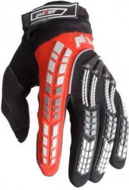 Motocyklové rukavice PIONEER PILOT černá - červená