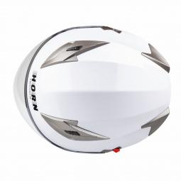 Moto přilba HORN Blenda UV bílá + sluneční clona