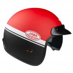 Moto přilba CASSIDA OXYGEN JAWA OHC červená-černá