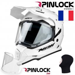 + Pinlock Moto přilba NOX N312 bílá