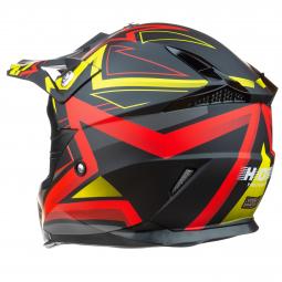 Moto přilba HORN Enduro Red star + brýle zdarma