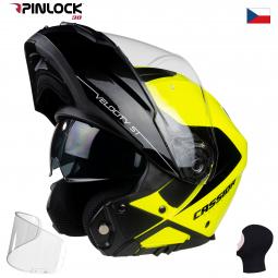 + PINLOCK Moto přilba CASSIDA VELOCITY ST 2.1 žluto-černá