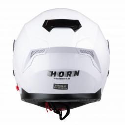 Moto přilba HORN bílá + sluneční clona