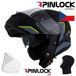 + PINLOCK Moto přilba CASSIDA Compress 2.0 Refraction černá-žlutá
