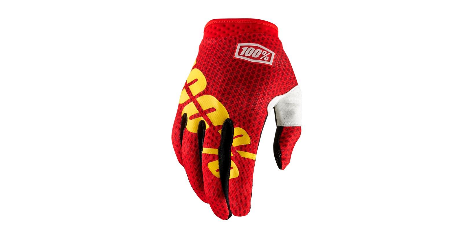 rukavice iTRACK, 100 (červená/žlutá)