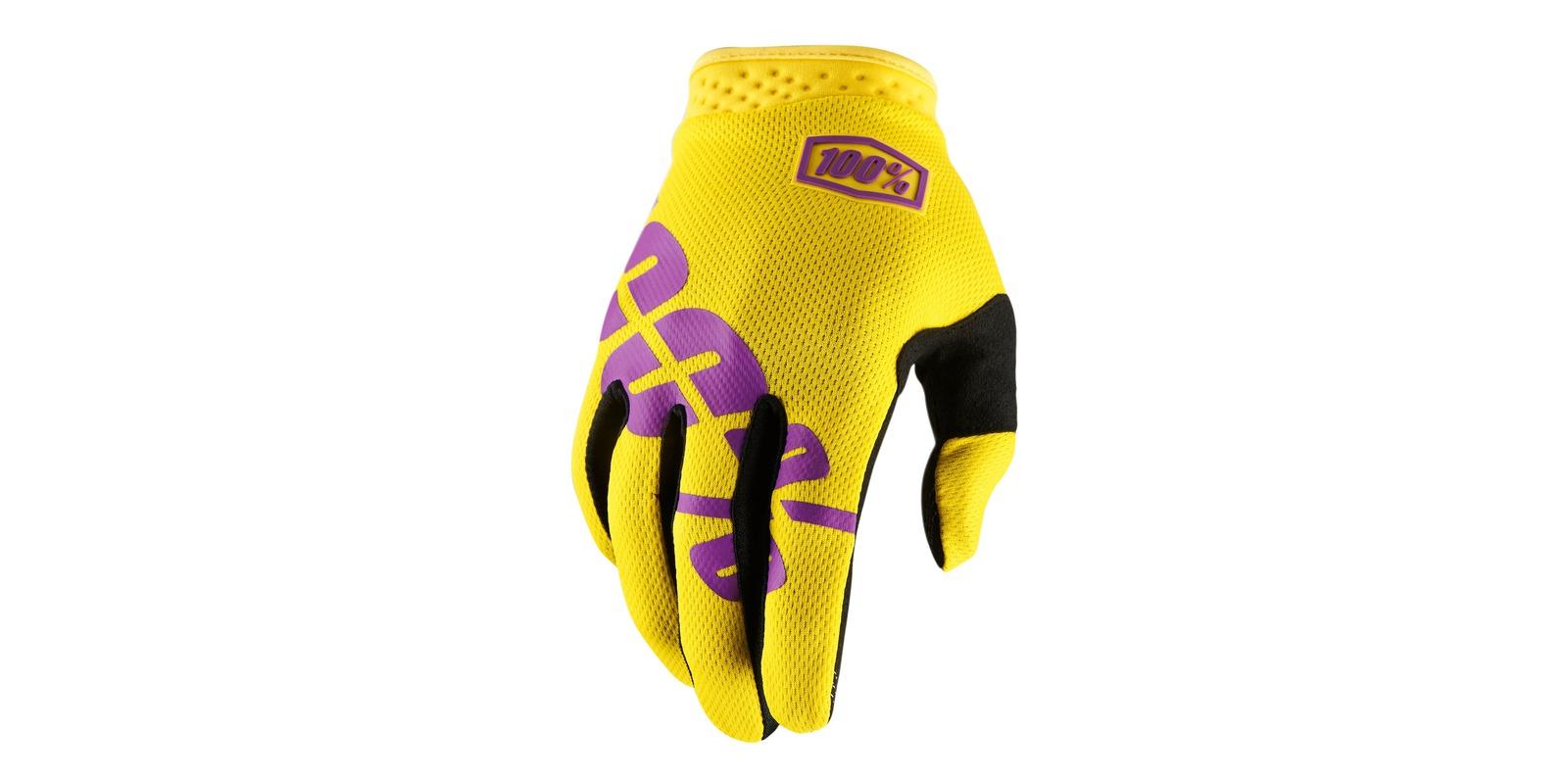 rukavice iTRACK, 100 (žlutá/fialová)