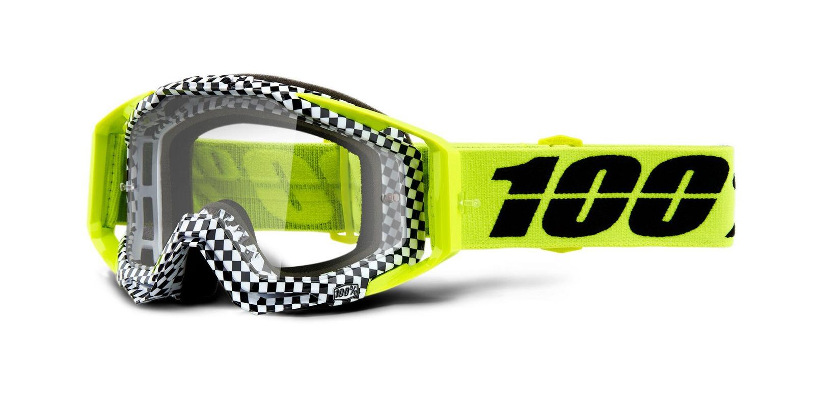 brýle RACECRAFT ANDRE, 100% (čiré zrcadlové plexi)