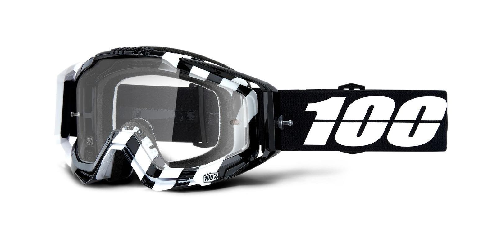 brýle RACECRAFT ALTA, 100% (čiré zrcadlové plexi)