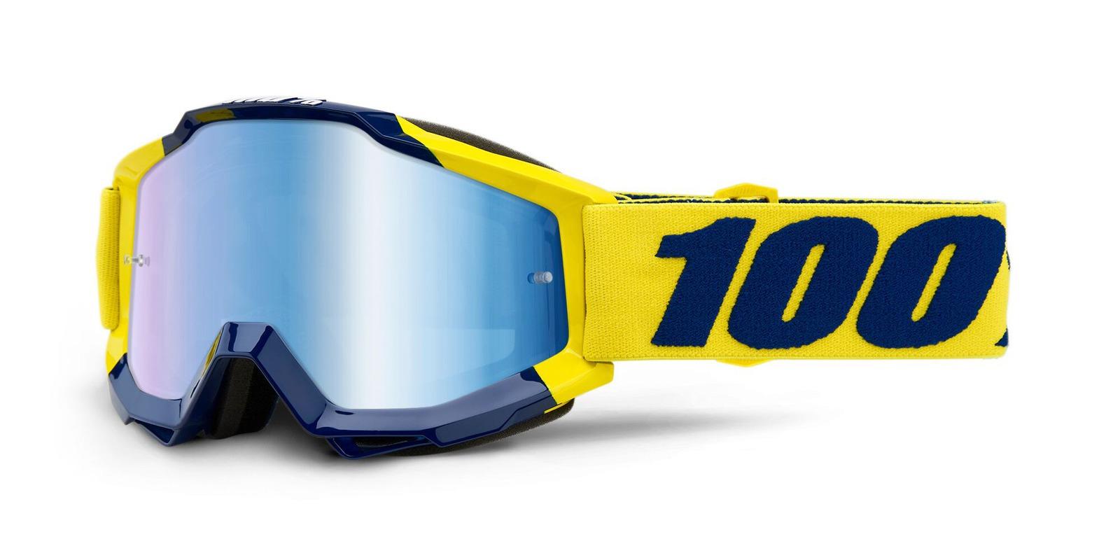 brýle ACCURI SUPPLY, 100% (modré zrcadlové plexi)