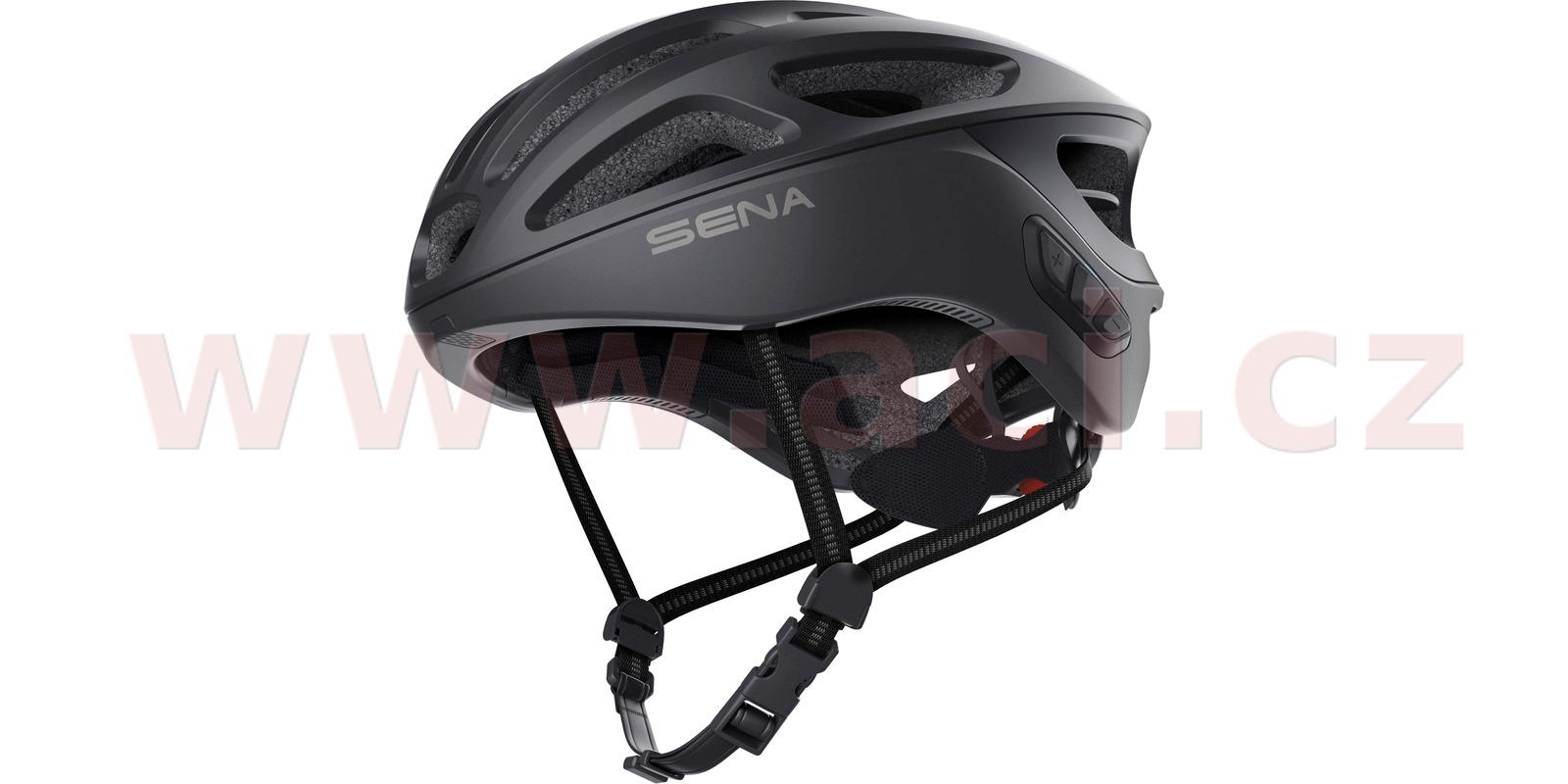 cyklo přilba R1, SENA (černá)