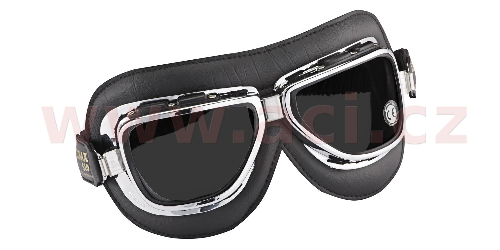 Vintage brýle 510, CLIMAX (černé/chrom, skla kouřové)