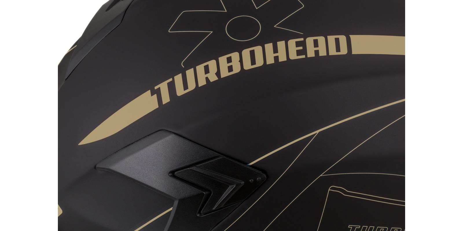 přilba Integral 3.0 Turbohead, CASSIDA (černá matná/zlatá, plexi s přípravou pro Pinlock)