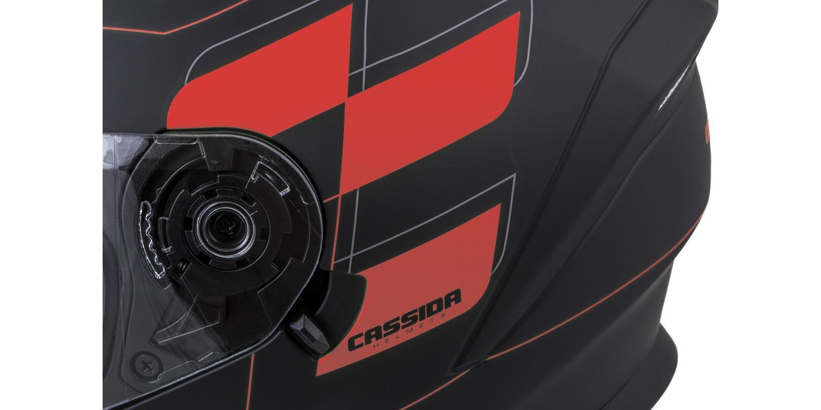 přilba Integral 3.0 RoxoR, CASSIDA (černá matná/červená fluo/šedá, plexi s přípravou pro Pinlock)