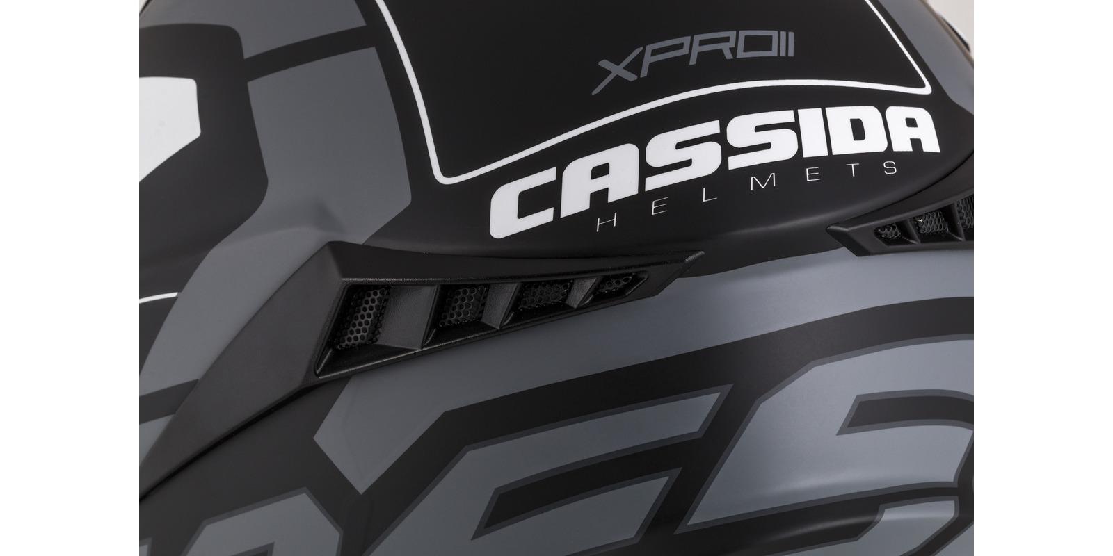 přilba Cross Pro II Contra, CASSIDA (šedá matná/černá/bílá)