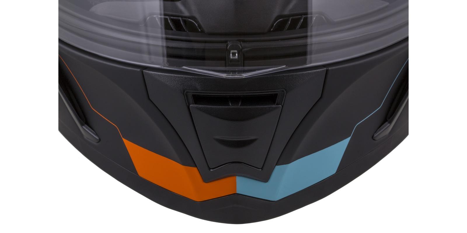 přilba Integral 3.0 Turbohead, CASSIDA (černá matná/oranžová/modrá, plexi s přípravou pro Pinlock)