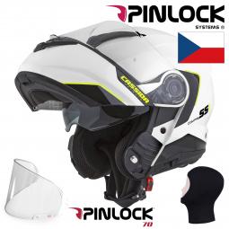 + PINLOCK Moto přilba CASSIDA Compress 2.0 Refraction bílá-černá