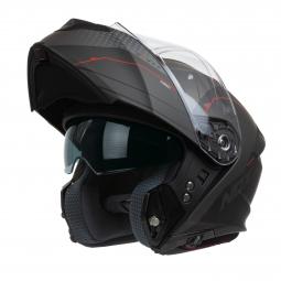 přilba N960 Shake, NOX (matná černá, červená)