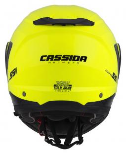 Moto přilba CASSIDA Compress 2.0 Refraction žlutá-černá