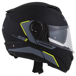 Moto přilba CASSIDA Compress 2.0 Refraction černá-žlutá