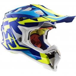 Moto přilba LS2 MX470 SUBVERTER CROSS ATV bílá-modrá