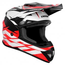 Moto přilba CASSIDA Cross Cup Two červená-bílá