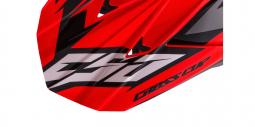 + BRYLE Dětská moto přilba CASSIDA Cup Two Kids černá matná - červená