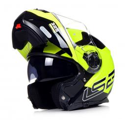 Moto přilba LS2 FF325 zeleno-černá