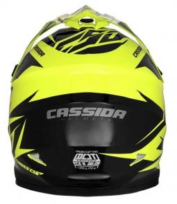 Přilba Cross Cup Two CASSIDA černo-žlutá + brýle a kukla