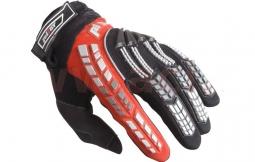 Motocyklové rukavice PIONEER černo-červené