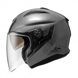 Moto přilba NOX PREMIUM TOWN stříbrná matná